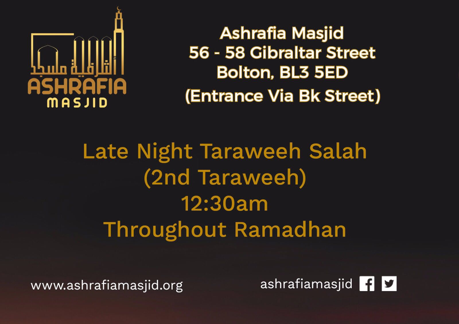 Ashrafia Masjid Late Night Taraweeh Ramadhan 2017