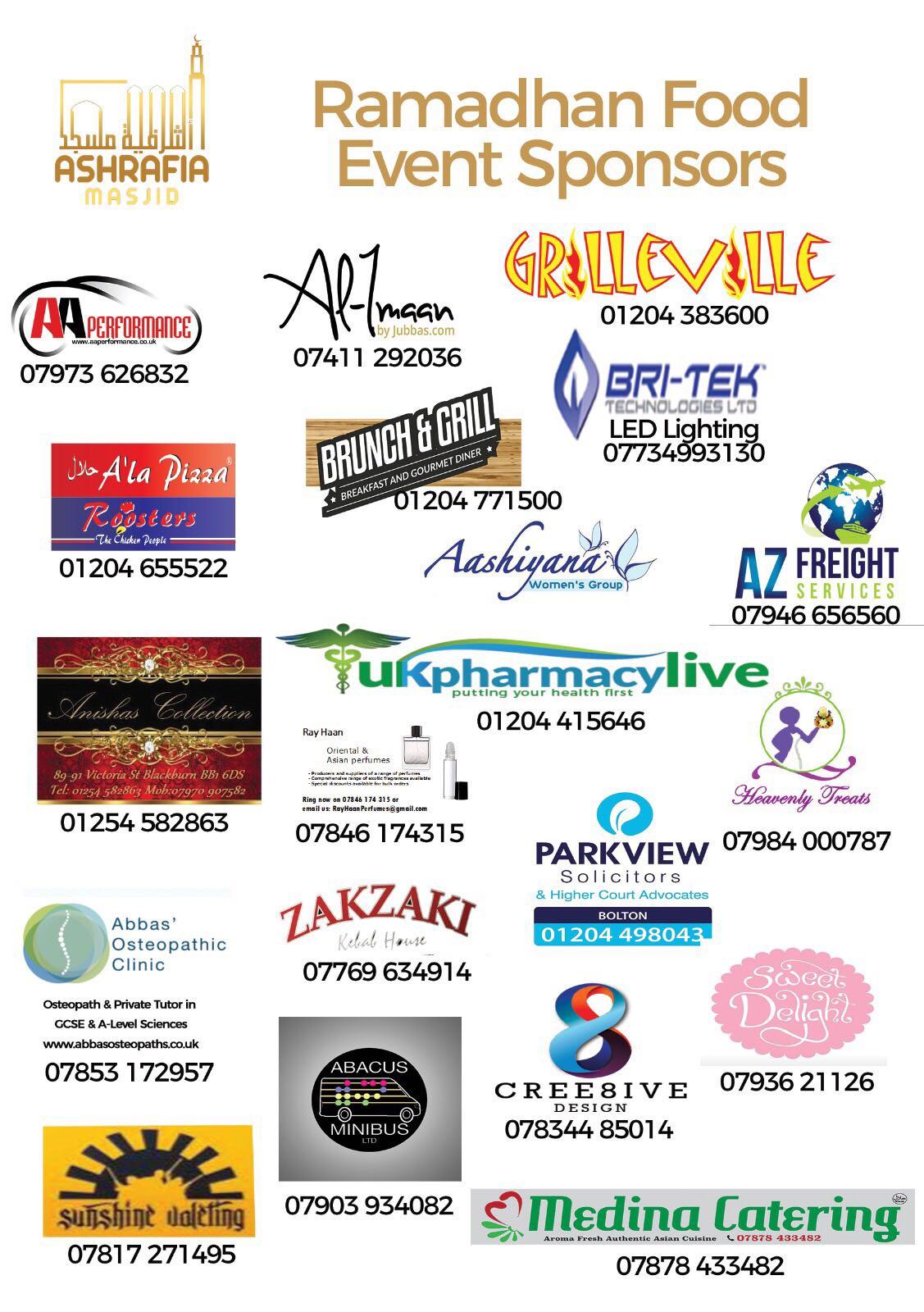 Ramadhan 2017 Food Event Sponsors