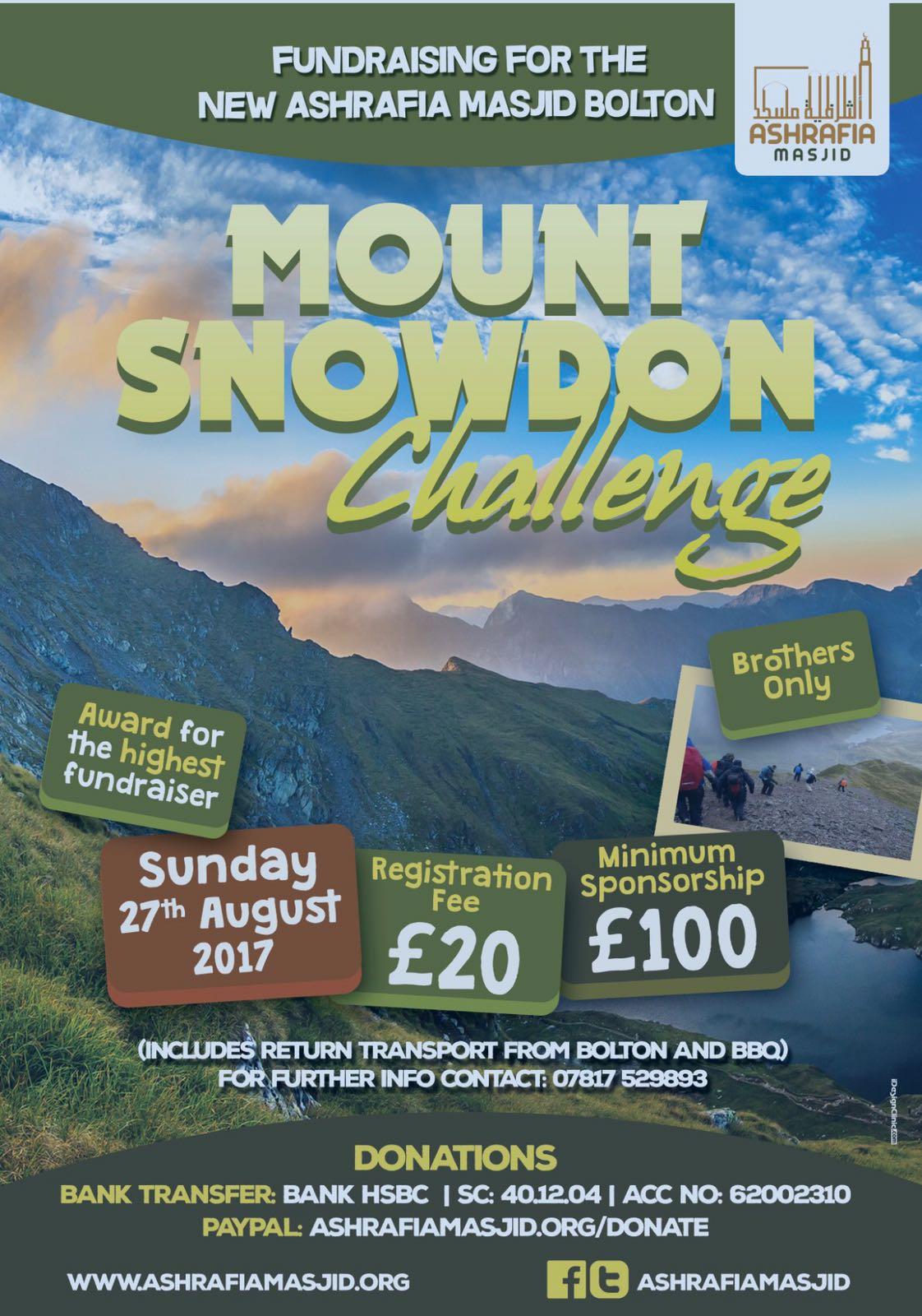 Mount Snowdon Sponshorship Event August 2017